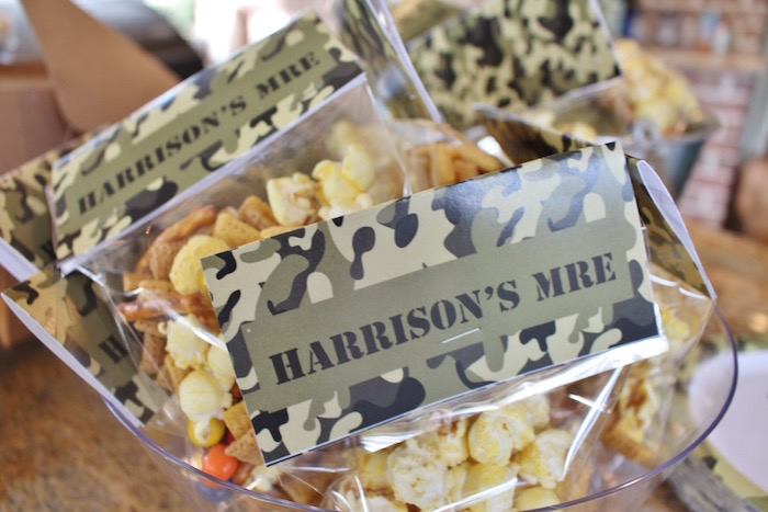 Snack bag from a Military Toy Soldier Birthday Party on Kara's Party Ideas | KarasPartyIdeas.com (6)