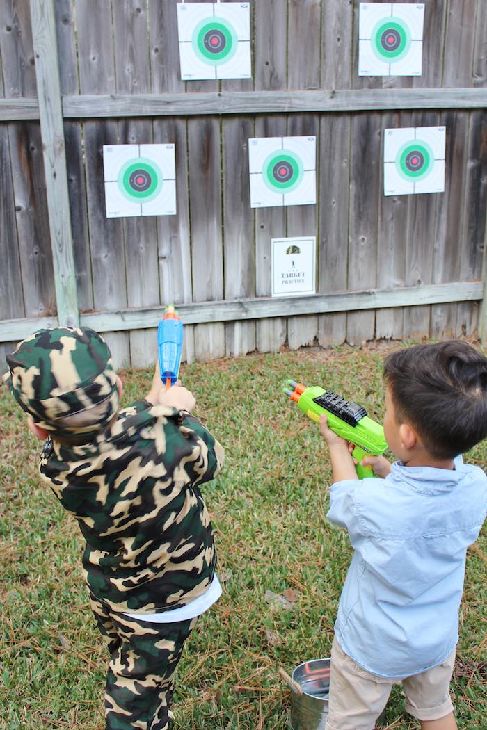 Target Shooting Activity From A Military Toy Soldier Birthday Party On Karas Ideas