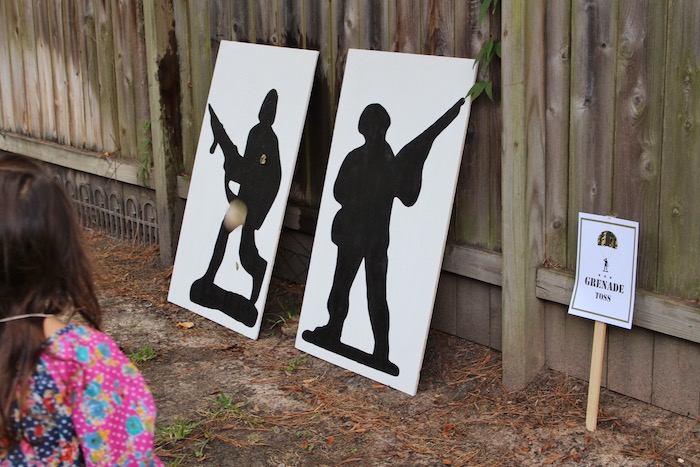 Soldier silhouette canvases from a Military Toy Soldier Birthday Party on Kara's Party Ideas | KarasPartyIdeas.com (21)