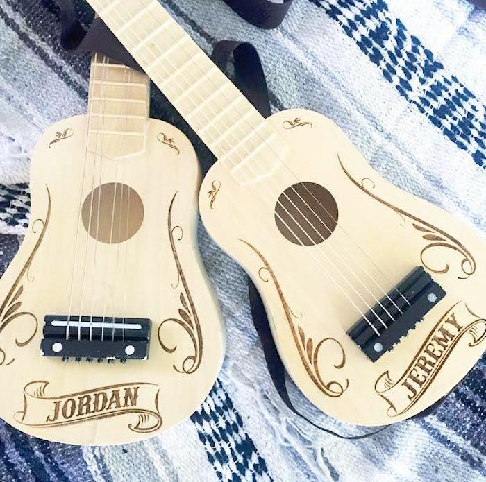 Personalized ukuleles from a Modern Cactus Themed Fiesta on Kara's Party Ideas | KarasPartyIdeas.com (23)