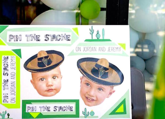 Pin the Stache game board from a Modern Cactus Themed Fiesta on Kara's Party Ideas | KarasPartyIdeas.com (16)