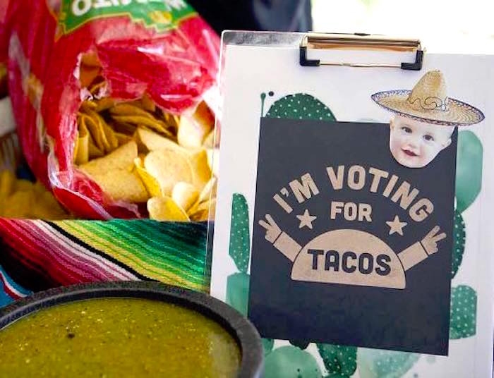 Party signage + chips and dip from a Modern Cactus Themed Fiesta on Kara's Party Ideas | KarasPartyIdeas.com (15)