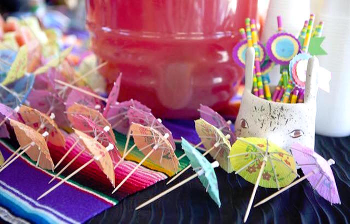 Umbrella drink picks from a Modern Cactus Themed Fiesta on Kara's Party Ideas | KarasPartyIdeas.com (13)