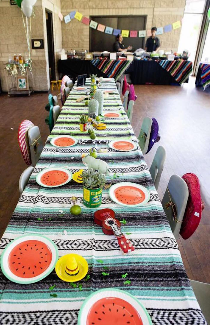 Fiesta dining tablescape from a Modern Cactus Themed Fiesta on Kara's Party Ideas | KarasPartyIdeas.com (4)
