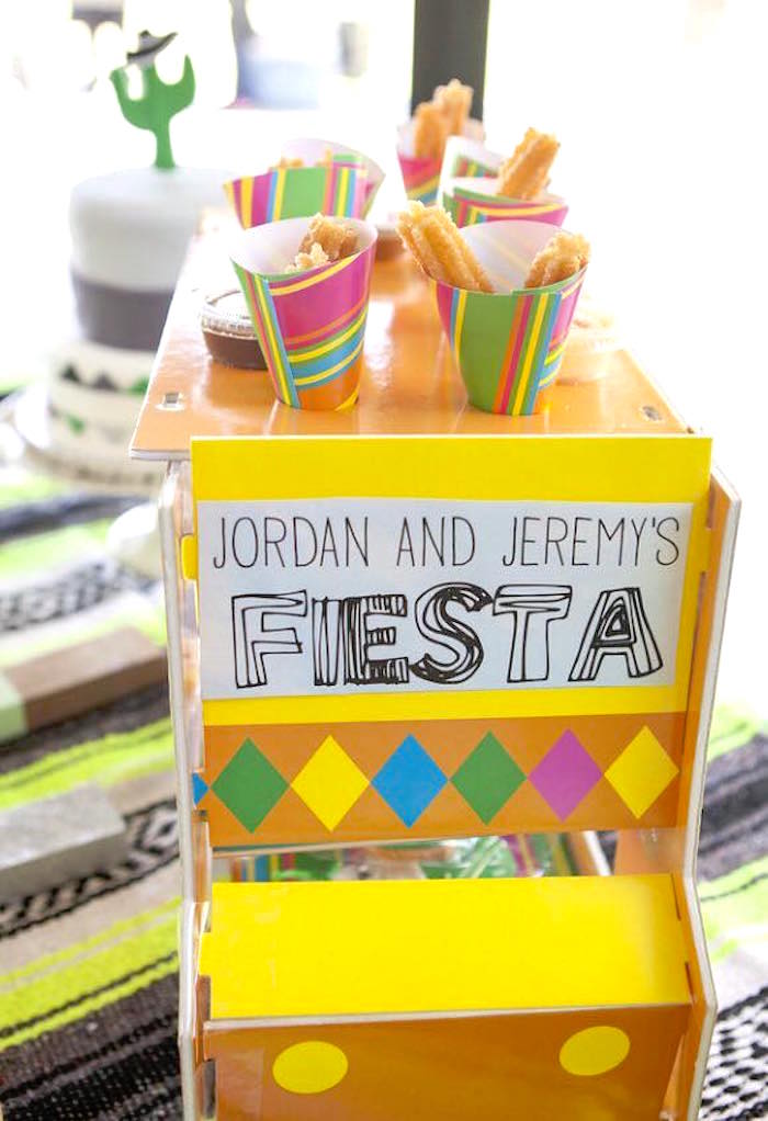 Cardboard snack truck from a Modern Cactus Themed Fiesta on Kara's Party Ideas | KarasPartyIdeas.com (28)