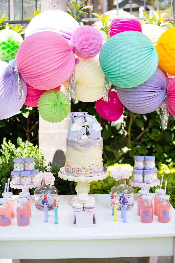 Kara 39 s party ideas my little pony 5th birthday party for 5th birthday decoration ideas