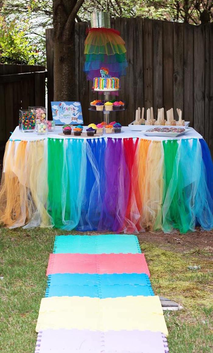 Kara S Party Ideas My Little Pony Rainbow Art Party Kara