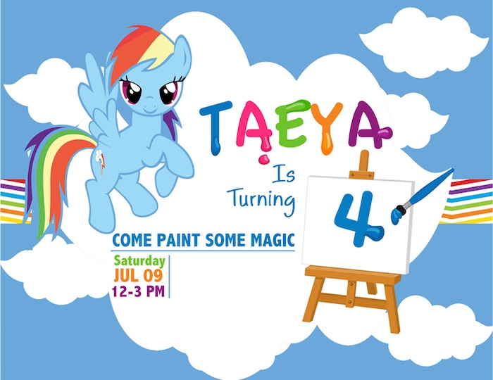 kara s party ideas my little pony rainbow art party kara s party ideas