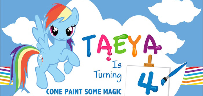 My Little Pony Rainbow Art Party on Kara's Party Ideas | KarasPartyIdeas.com (4)