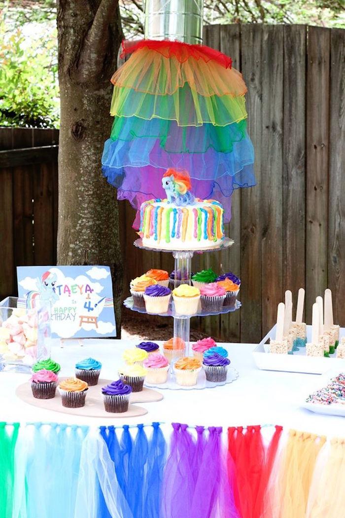 Kara S Party Ideas My Little Pony Rainbow Art Party Kara S