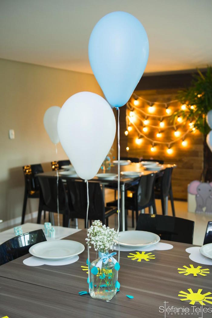 Guest table from a Noah's Ark Birthday Party on Kara's Party Ideas | KarasPartyIdeas.com (10)