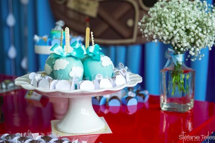 Cloud apples + cake balls from a Noah's Ark Birthday Party on Kara's Party Ideas | KarasPartyIdeas.com (4)