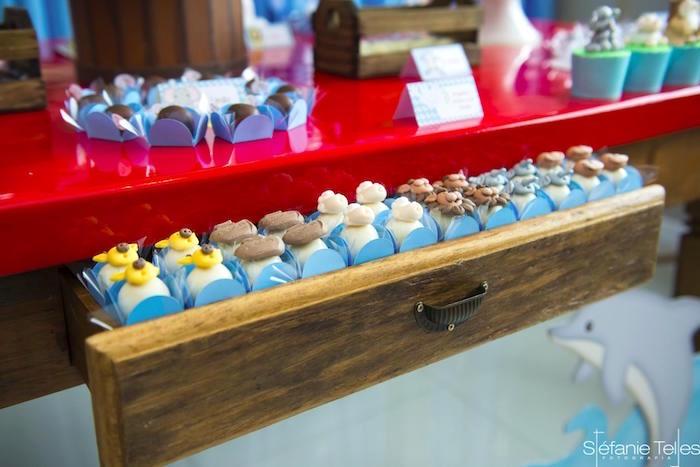 Noah's Ark truffles from a Noah's Ark Birthday Party on Kara's Party Ideas | KarasPartyIdeas.com (2)