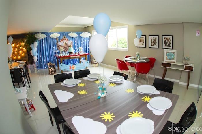 Noah's Ark-inspired guest table from a Noah's Ark Birthday Party on Kara's Party Ideas | KarasPartyIdeas.com (18)