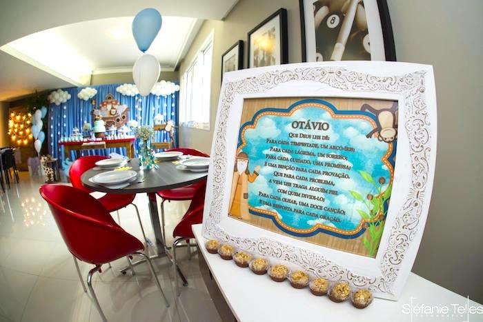Printed Noah's Ark party sign from a Noah's Ark Birthday Party on Kara's Party Ideas | KarasPartyIdeas.com (13)