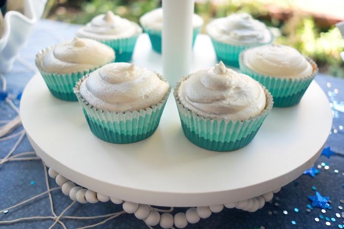 Ombre cupcakes from an Ombre Under the Sea + Ocean Birthday Party on Kara's Party Ideas | KarasPartyIdeas.com (25)