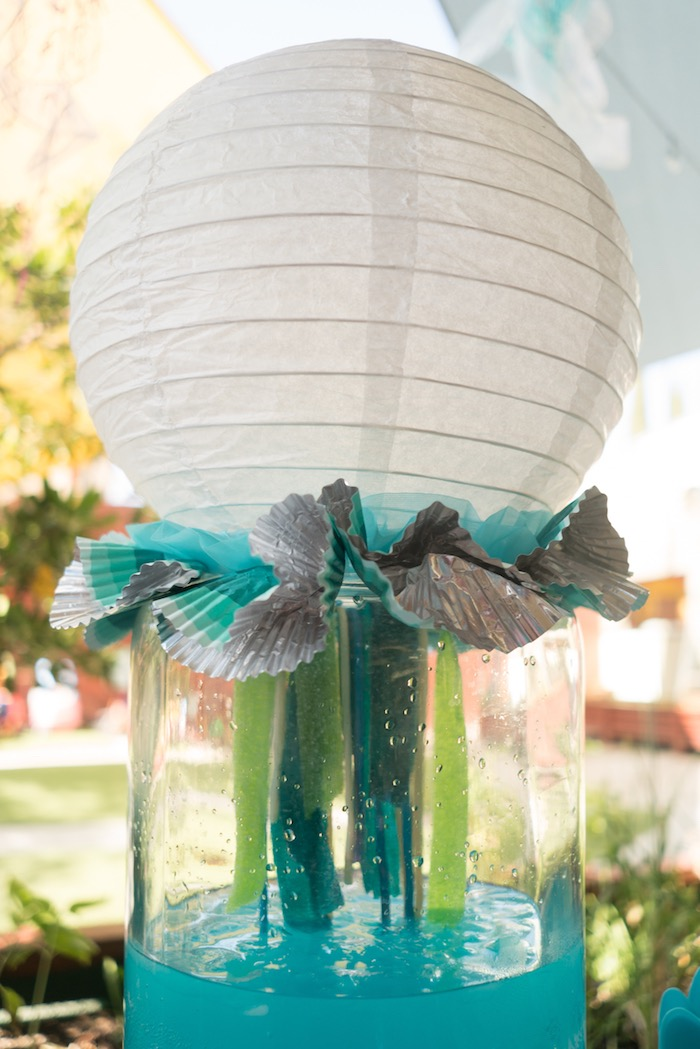 Jellyfish beverage dispenser from an Ombre Under the Sea + Ocean Birthday Party on Kara's Party Ideas | KarasPartyIdeas.com (18)