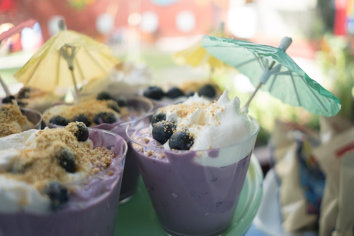 Blueberry beach dessert cups from an Ombre Under the Sea + Ocean Birthday Party on Kara's Party Ideas | KarasPartyIdeas.com (15)