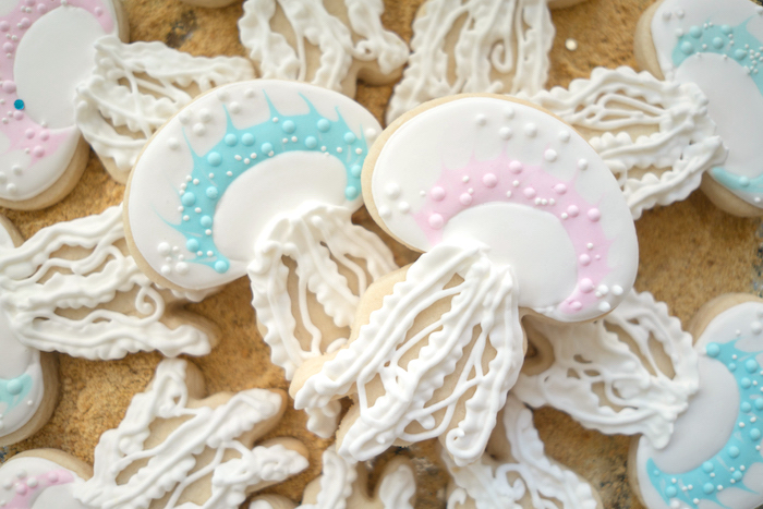 Jellyfish cookies from an Ombre Under the Sea + Ocean Birthday Party on Kara's Party Ideas | KarasPartyIdeas.com (12)