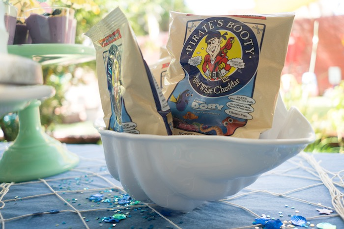 Pirate Booty snack bags from an Ombre Under the Sea + Ocean Birthday Party on Kara's Party Ideas | KarasPartyIdeas.com (10)