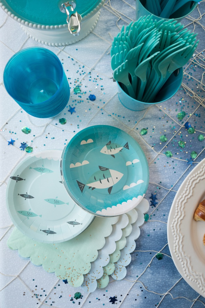 Under the sea partyware from an Ombre Under the Sea + Ocean Birthday Party on Kara's Party Ideas | KarasPartyIdeas.com (9)