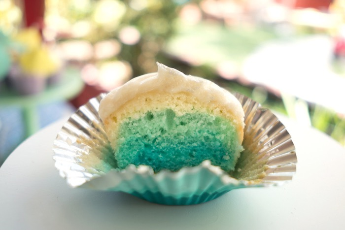 Blue ombre cupcake from an Ombre Under the Sea + Ocean Birthday Party on Kara's Party Ideas | KarasPartyIdeas.com (7)