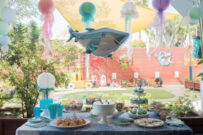 Ombre Under the Sea + Ocean Birthday Party on Kara's Party Ideas | KarasPartyIdeas.com (31)