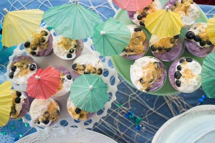 Blueberry beach dessert cups from an Ombre Under the Sea + Ocean Birthday Party on Kara's Party Ideas | KarasPartyIdeas.com (29)