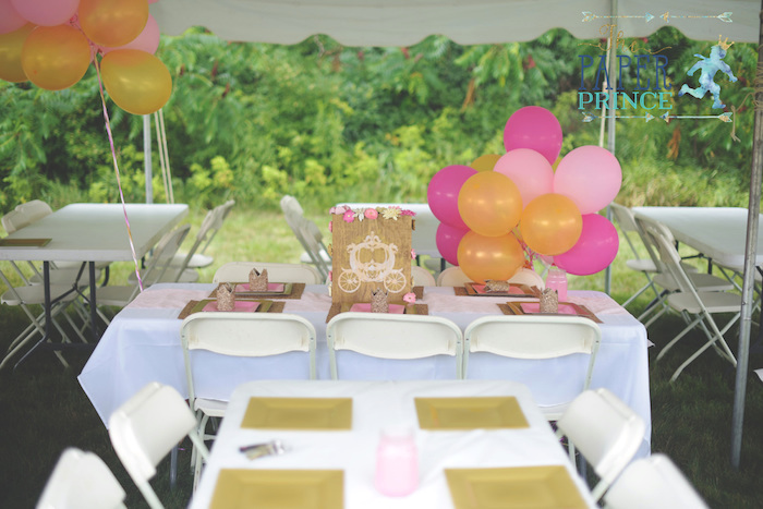 Guest table from a Once Upon a Time Fairytale Birthday Party on Kara's Party Ideas | KarasPartyIdeas.com (18)