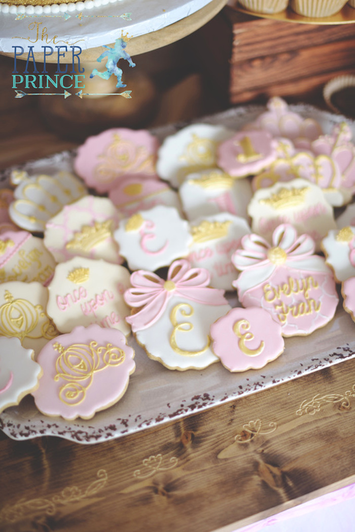 Fairytale cookies from a Once Upon a Time Fairytale Birthday Party on Kara's Party Ideas | KarasPartyIdeas.com (16)