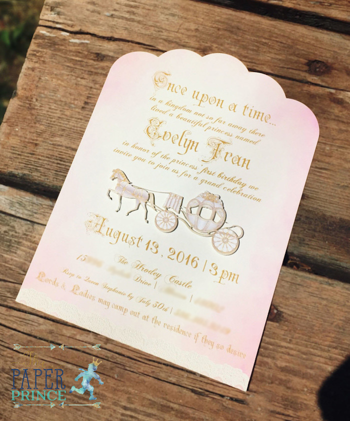 Fairytale party invitation from a Once Upon a Time Fairytale Birthday Party on Kara's Party Ideas | KarasPartyIdeas.com (12)