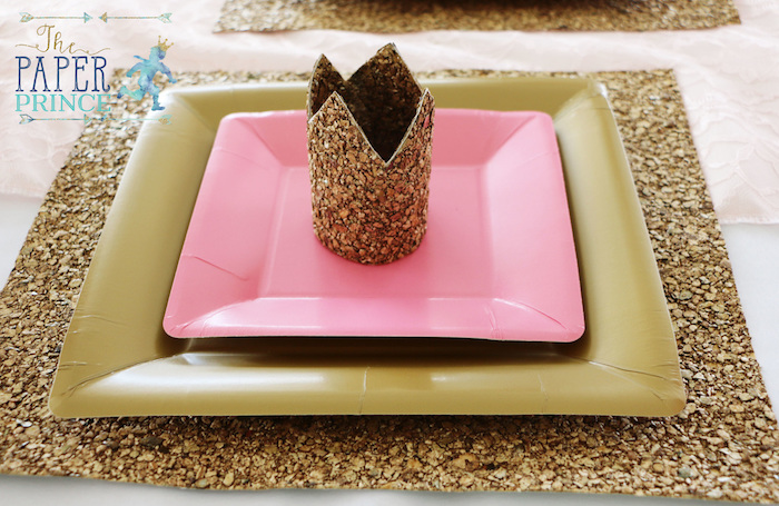 Crown place setting from a Once Upon a Time Fairytale Birthday Party on Kara's Party Ideas | KarasPartyIdeas.com (7)