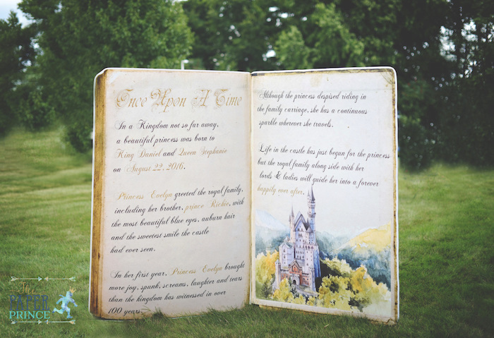"Giant ""Once Upon a Time"" storybook prop from a Once Upon a Time Fairytale Birthday Party on Kara's Party Ideas 