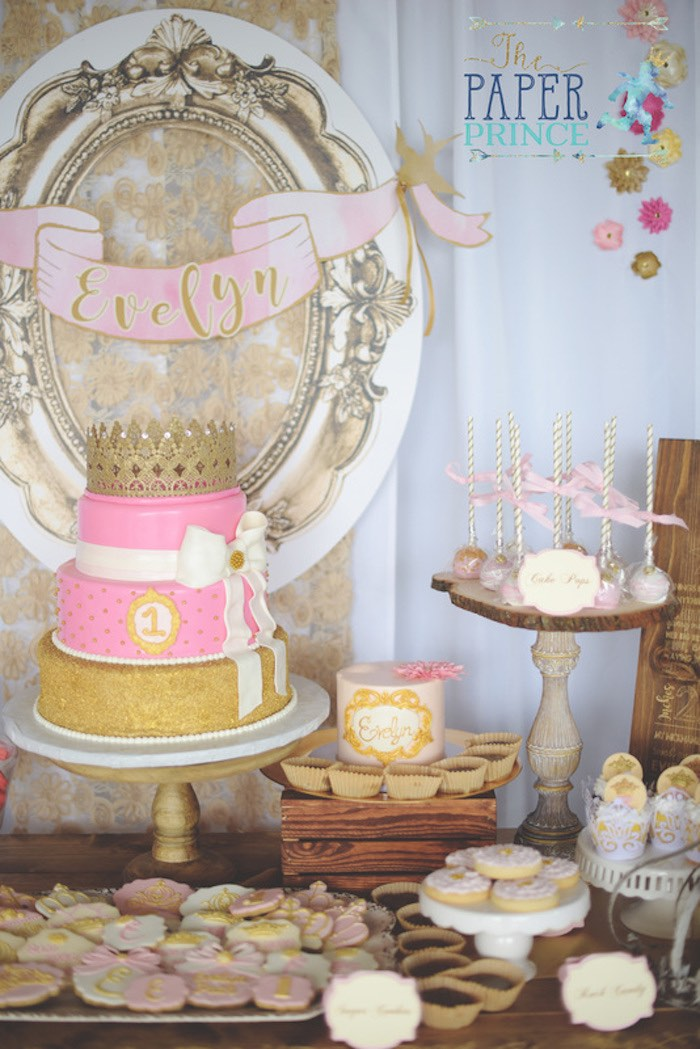 Cake & dessert table from a Once Upon a Time Fairytale Birthday Party on Kara's Party Ideas | KarasPartyIdeas.com (23)