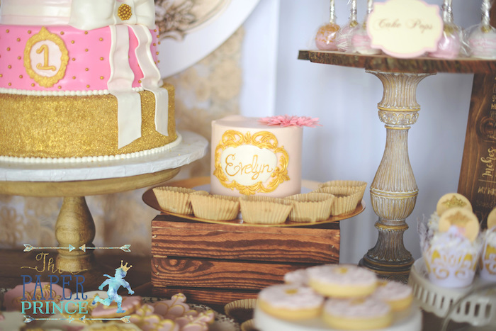 Blush smash cake from a Once Upon a Time Fairytale Birthday Party on Kara's Party Ideas | KarasPartyIdeas.com (22)