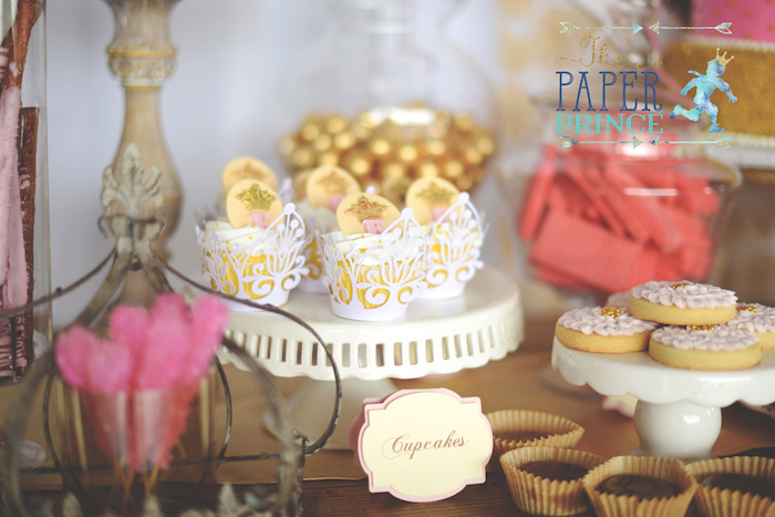 Cupcakes and cookies from a Once Upon a Time Fairytale Birthday Party on Kara's Party Ideas | KarasPartyIdeas.com (20)