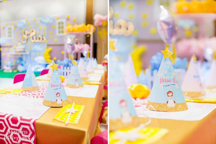 Guest tablescape from an Our Little Star Birthday Party on Kara's Party Ideas | KarasPartyIdeas.com (33)