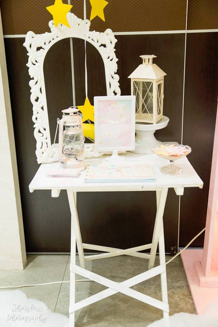 Entrance table from an Our Little Star Birthday Party on Kara's Party Ideas | KarasPartyIdeas.com (32)