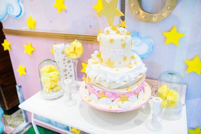Little star cake from an Our Little Star Birthday Party on Kara's Party Ideas | KarasPartyIdeas.com (28)
