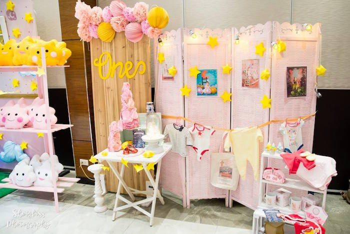 Backdrop from an Our Little Star Birthday Party on Kara's Party Ideas | KarasPartyIdeas.com (27)