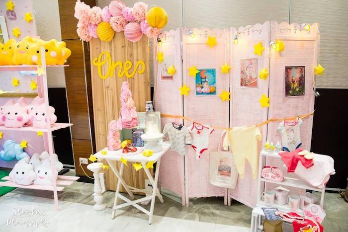 Backdrop from an Our Little Star Birthday Party on Kara's Party Ideas | KarasPartyIdeas.com (27)