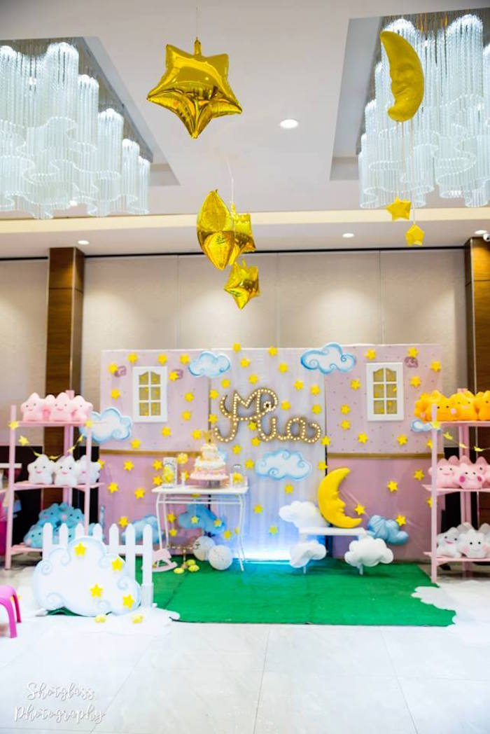 Kara S Party Ideas Dreamy Little Star Birthday Party