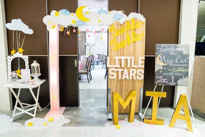 Little Stars entrance from an Our Little Star Birthday Party on Kara's Party Ideas | KarasPartyIdeas.com (18)