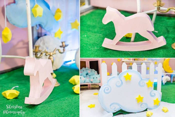 Rocking horse and cloud from an Our Little Star Birthday Party on Kara's Party Ideas | KarasPartyIdeas.com (10)