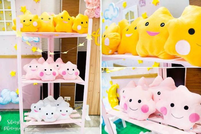 Plush star favors from an Our Little Star Birthday Party on Kara's Party Ideas | KarasPartyIdeas.com (8)