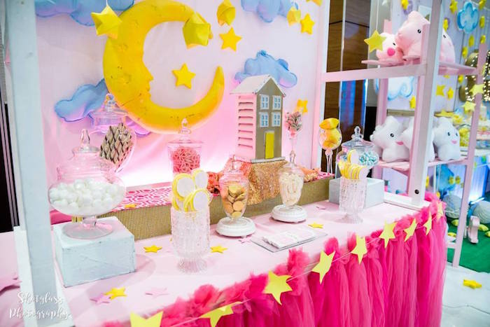Candy & sweet buffet from an Our Little Star Birthday Party on Kara's Party Ideas | KarasPartyIdeas.com (39)