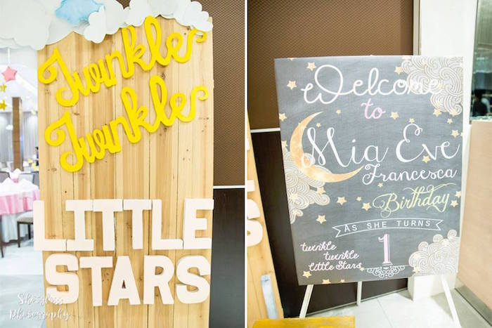 Party signs & decor from an Our Little Star Birthday Party on Kara's Party Ideas | KarasPartyIdeas.com (35)