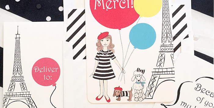 Parisian Puppy Themed Birthday Party on Kara's Party Ideas | KarasPartyIdeas.com (1)