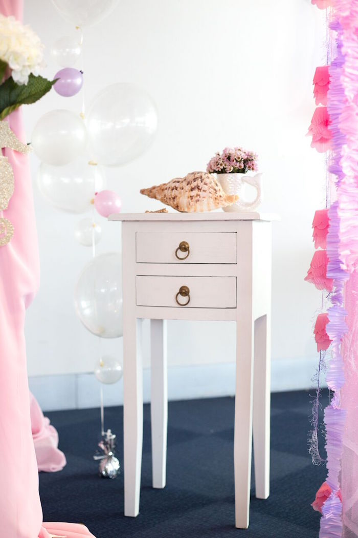 Mini table from a Pastel Mermaid Party on Kara's Party Ideas | KarasPartyIdeas.com (43)