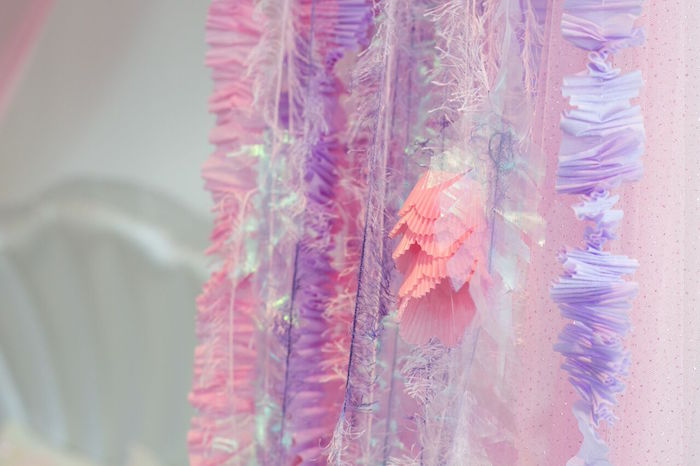 Jellyfish tentacle streamers from a Pastel Mermaid Party on Kara's Party Ideas | KarasPartyIdeas.com (37)